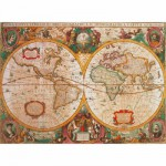 Puzzle  Clementoni-31229 Carte antique