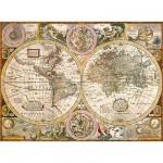 Puzzle  Clementoni-33531 Vieille carte du monde