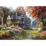 Puzzle  Clementoni-39172 Belle demeure dans un Jardin Victorien
