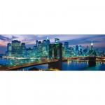 Clementoni-39209 Puzzle Panoramique - New York : Pont de Brooklyn