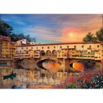 Puzzle  Clementoni-39220 Italie - Romantique Firenze