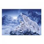 Puzzle  Clementoni-39280 Famille de Loups