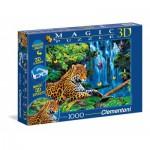 Puzzle  Clementoni-39284 Pièces avec Effet 3D - Jaguar