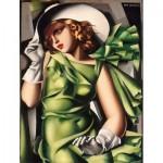 Puzzle  Clementoni-39332 Tamara de Lempicka :  Jeune Fille en Vert