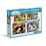 4 Progressive Puzzles - Dreamworks