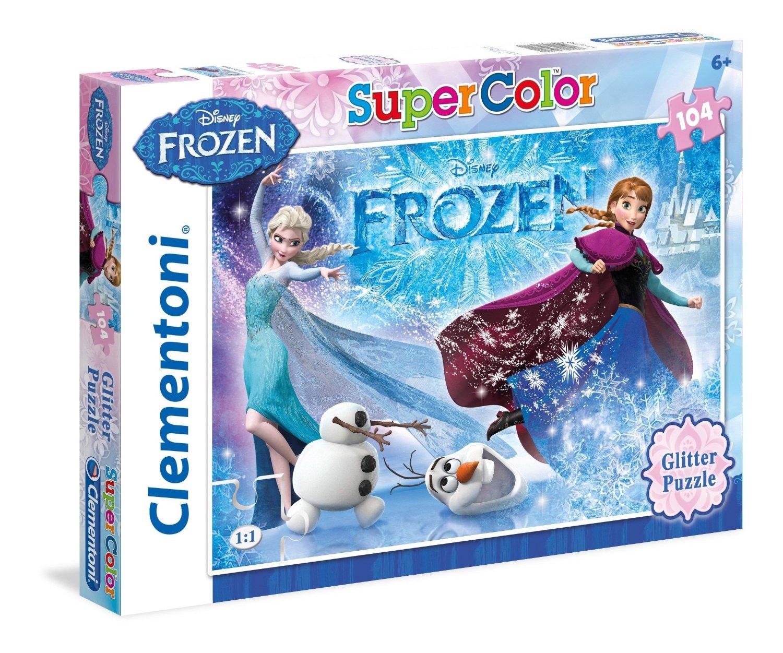 puzzle scintillant la reine des neiges clementoni 29712 104 pi ces puzzles autres disney. Black Bedroom Furniture Sets. Home Design Ideas
