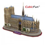 Cubic-Fun-MC054H-2 Puzzle 3D - France, Paris : Cathédrale Notre-Dame de Paris (Difficulté : 5/6)