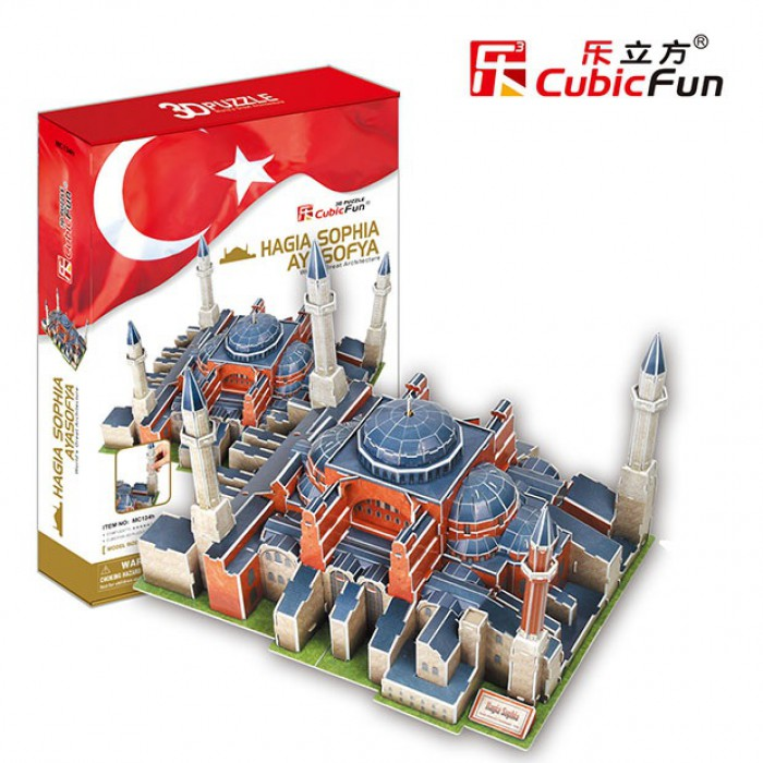 Puzzle 3D - Turquie, Istanbul : Basilique Sainte-Sophie (Difficulté : 7/8)