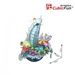 Cubic-Fun-OC3212L Puzzle 3D avec LED - Cityscape Collection - Dubai (Difficulté: 4/6)