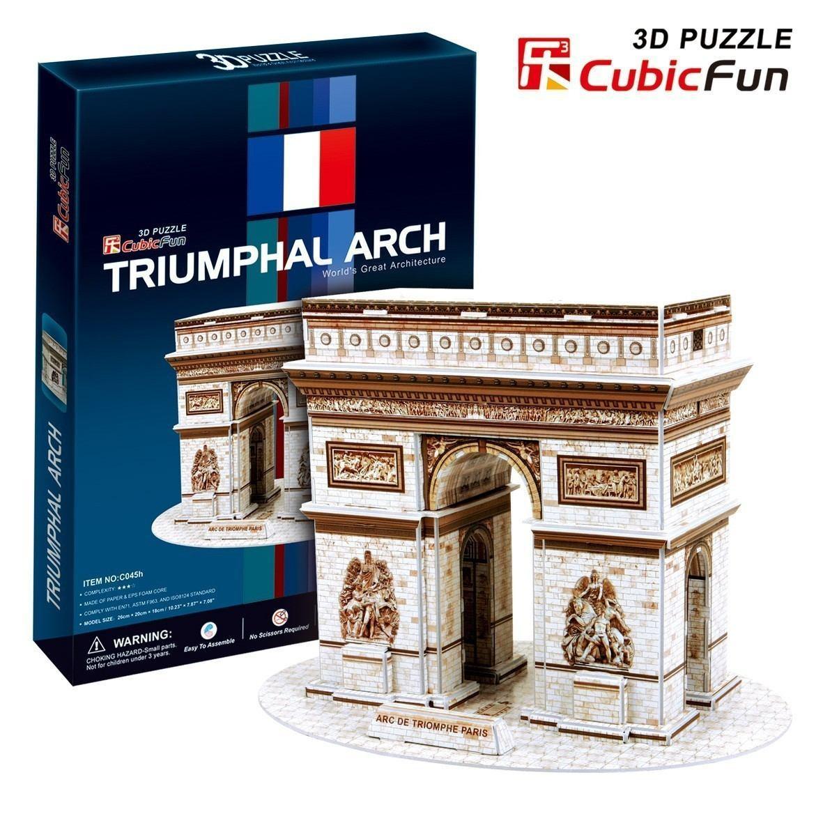 puzzle 3d arc de triomphe cubic fun c045h 26 pi ces. Black Bedroom Furniture Sets. Home Design Ideas