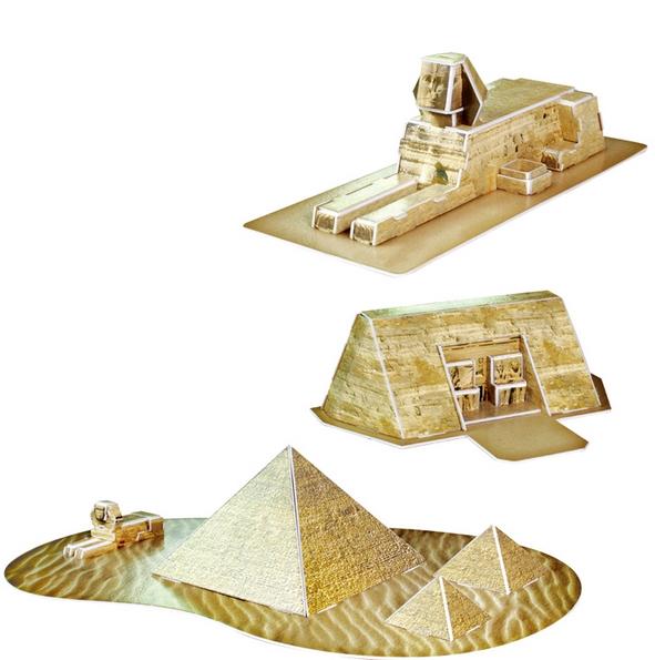 puzzle 3d monuments egyptiens cubic fun c077h 38 pi ces puzzles monuments planet 39 puzzles. Black Bedroom Furniture Sets. Home Design Ideas