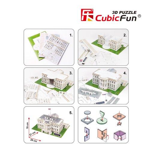 Puzzle 3d washington la maison blanche cubic fun c060h for Au coeur de la maison blanche replay