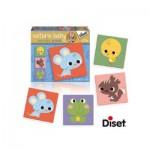 Diset-69955 4 Puzzles Naturin Baby : Souris, Ecureuil, Poussin et Grenouille