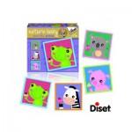 Diset-69956 4 Puzzles Naturin Baby : Grenouille, Zèbre, Cochon et Ourson