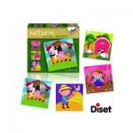 Diset-69958 4 Puzzles Naturin : La Ferme