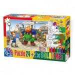 Puzzle  Dtoys-50380-PC-05 Color Me : Pinocchio + 2 dessins à colorier
