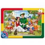 Dtoys-50564-PV09 Puzzle Cadre - Blanche Neige et les 7 Nains
