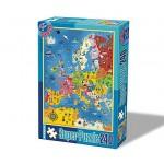 Puzzle  Dtoys-50663-MP-01 Carte de l'Europe