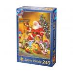 Dtoys-50670-XM-07 Puzzle de Noël - La découverte des cadeaux