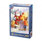 Dtoys-50670-XM-08 Puzzle de Noël - Dans le jardin avec le Père Noël
