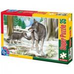 Puzzle  Dtoys-60198-AN-03 Pièces XXL - Loups