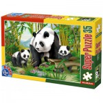 Puzzle  Dtoys-60198-AN-04 Pièces XXL - Pandas
