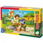 Puzzle  Dtoys-60389-PV-03 Pièces XXL : Le chat botté