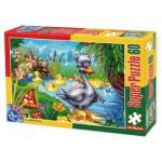 Puzzle  Dtoys-60396-PV-04 Pièces XXL : Le vilain petit canard
