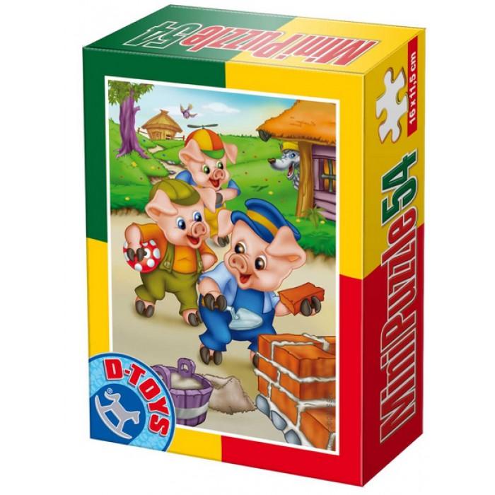 Mini Puzzle : Les 3 petits cochons