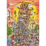 Puzzle  DToys-61218-CC01 Cartoon Collection - Tour de Pise