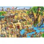 Puzzle  DToys-61218-CC09 Cartoon Collection - La traversée du désert