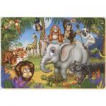 Puzzle  Dtoys-61454-AN-03 Color Me : La fête des animaux de la jungle