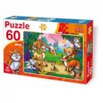 Puzzle  Dtoys-61478-AN-04 Les animaux de la forêt