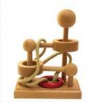 Dtoys-61485-06 Casse-tête en bois IQ Games - Basic 6 - Difficulté : 2/5