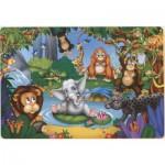 Puzzle  Dtoys-61515-AN-04 L'éléphanteau et les animaux de la jungle