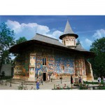 Puzzle  DToys-63038-MN02 Roumanie : Monastère Voronet
