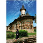 Puzzle  DToys-63038-MN03 Roumanie : Monastère Sucevita