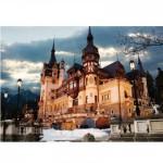 Puzzle  DToys-63038-MN07 Roumanie : Château de Peles