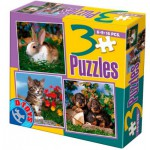 Dtoys-63045-AP-02 3 Puzzles animaux