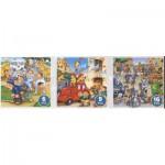 Puzzle  Dtoys-63724-ME-02 Pompiers, policiers et ambulanciers