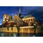 Puzzle  DToys-64301-NL08 Paysages nocturnes - France : Cathédrale Notre-Dame de Paris
