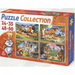Puzzle  Dtoys-65223-PC-02 Les animaux de la ferme, de la forêt et de la jungle