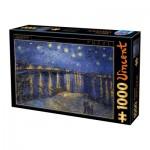 Puzzle  Dtoys-66916-VG11 Van Gogh Vincent - Nuit Etoilée sur le Rhône