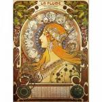 Puzzle  DToys-66930-MU02 Mucha Alphonse - Zodiaque