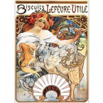 Puzzle  DToys-66930-MU04 Mucha Alphonse - Biscuits Lefèvre-Utile