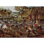 Puzzle  DToys-66947-BR01 Brueghel Pieter le jeune - Printemps