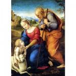 Puzzle  DToys-66954-RN02 Raphael - Raffaello Sanzio : La Sainte Famille à l'agneau