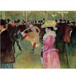 DToys-66978-TL01 Henri de Toulouse-Lautrec - Danse au Moulin Rouge / Puzzle difficile