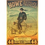 Puzzle  DToys-67555-VP01 Poster vintage - Howe Bicycles et Tricyles