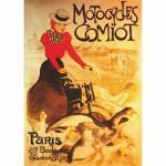 Puzzle  DToys-67555-VP02 Poster vintage - Motocycles Comiot, Paris